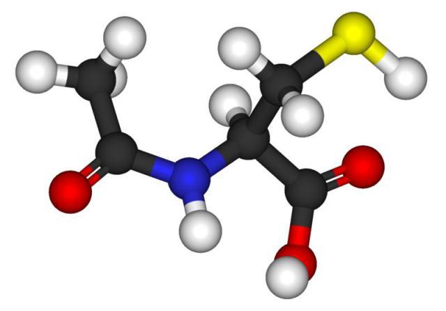 Acetylcysteine molecule