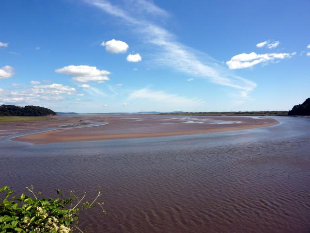 Dylan Thomas country: The Estuary at Laugharne where DT's